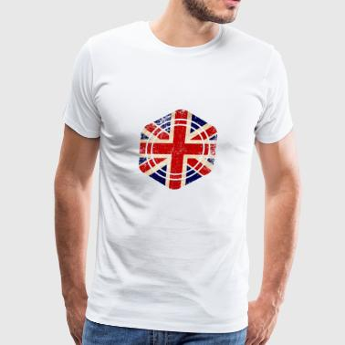 HEXAGON ENGLAND GRUNGE - Men's Premium T-Shirt