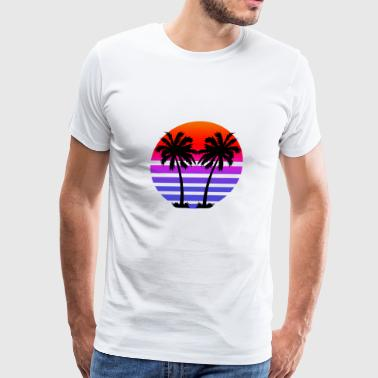 Gradient Palm Trees - Men's Premium T-Shirt