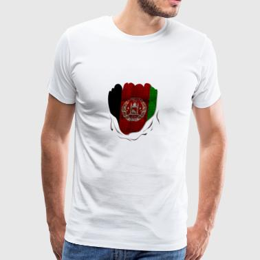 Funny Afghanistan Flag Ripped Abs Muscles - Men's Premium T-Shirt
