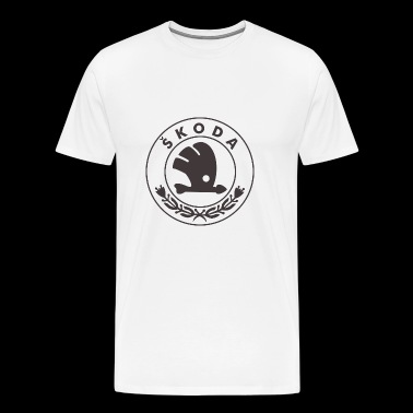 black bird car logo - Men's Premium T-Shirt