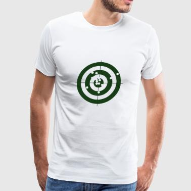 Bullseye Geometry Present Art Design Green - Men's Premium T-Shirt