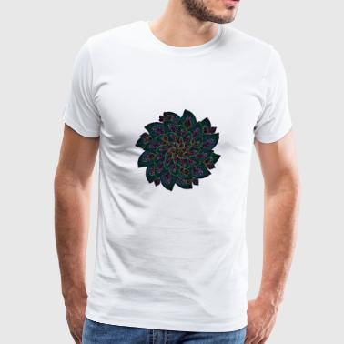 Melon Geometry Present Art Design Neon - Men's Premium T-Shirt