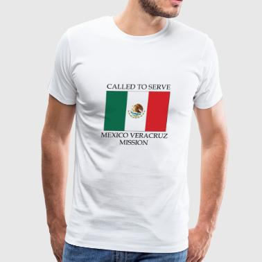 Mexico Veracruz LDS Mission Called to Serve Flag - Men's Premium T-Shirt