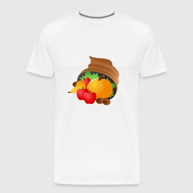 kuerbis pumpkin halloween gemuese vegetables35 - Men's Premium T-Shirt