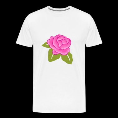 Rose Flower Pink - Men's Premium T-Shirt