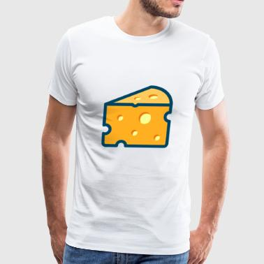 swiss cheese schweizer kaese milch milk - Men's Premium T-Shirt