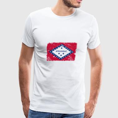 Arkansas Vintage Flag - Men's Premium T-Shirt