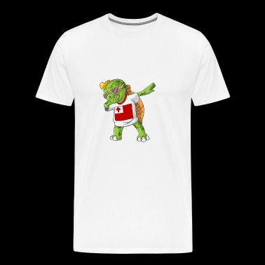 Tonga Dabbing Turtle - Men's Premium T-Shirt