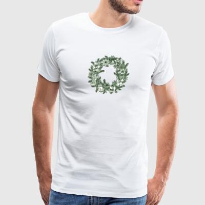 Christmas Wreath - Men's Premium T-Shirt