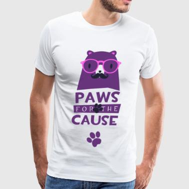 Paws for the cause animal pet funny t-shirt humor - Men's Premium T-Shirt