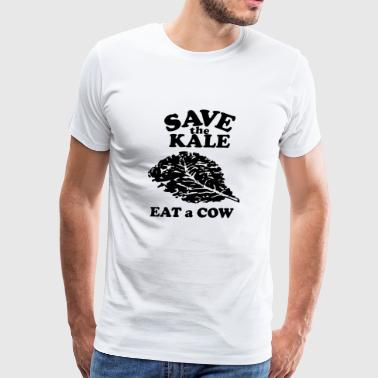 Save The Kale - Black - Men's Premium T-Shirt