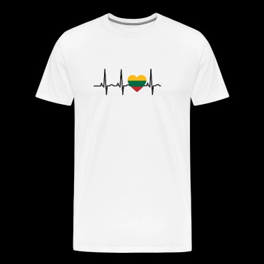 I LOVE ekg heartbeat Litauen Lithuania - Men's Premium T-Shirt
