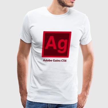 adobe gains - Men's Premium T-Shirt