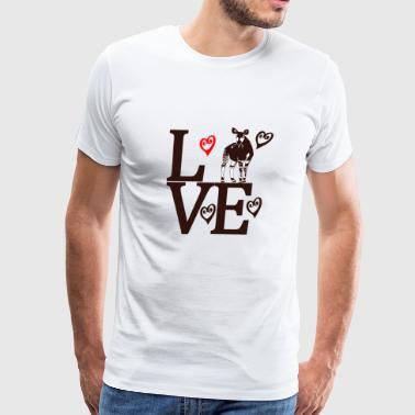 Okapi Love - Men's Premium T-Shirt