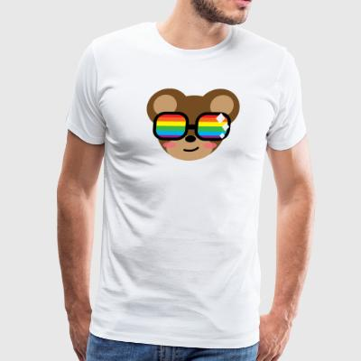 Nerd Bear Logo - Men's Premium T-Shirt