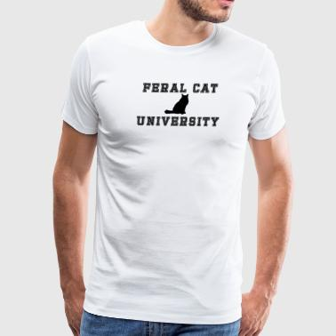 FERAL CAT UNIVERSITY - Men's Premium T-Shirt