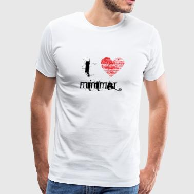 i love minimal techno dubstep - Men's Premium T-Shirt