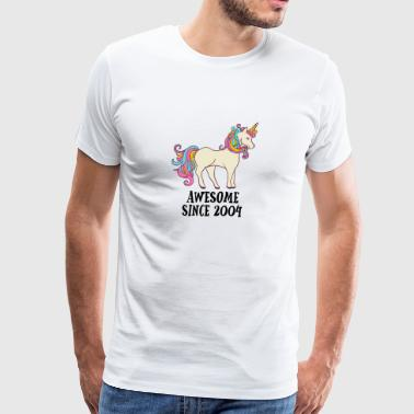 Awesome Since 2004 Unicorn Birthday Gift - Men's Premium T-Shirt