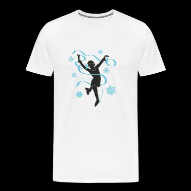 Ice princess is figure dancing and skating - Men's Premium T-Shirt