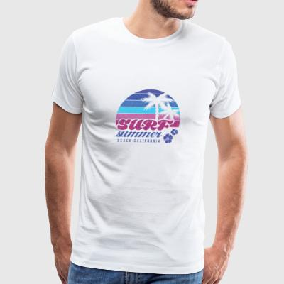 Surf summer beach t-shirt - Men's Premium T-Shirt