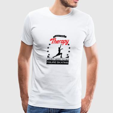 Figure Skating - Better than therapy - gift - Men's Premium T-Shirt