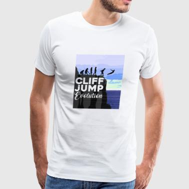 Cliff Jumping Evolution T-Shirt - Men's Premium T-Shirt