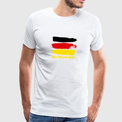 Deutschland flag of Germany brush style shirt - Men's Premium T-Shirt