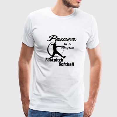Power in a softball - Men's Premium T-Shirt