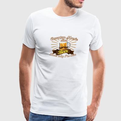 Country Music Beer Love Thats Why Im Here - Men's Premium T-Shirt