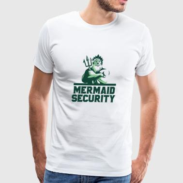 mermaid security - Men's Premium T-Shirt