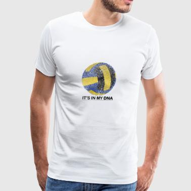 Volleyball in my DNA gift fingerprint - Men's Premium T-Shirt