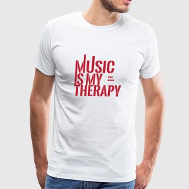 Music - Therapy - Gift - Beat - Song - Men's Premium T-Shirt