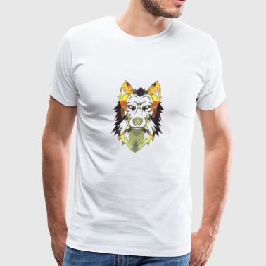 Wolf Geometric - Men's Premium T-Shirt