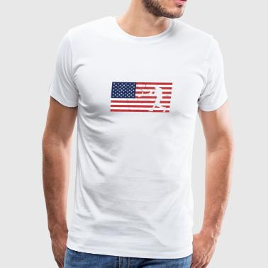 usa flag baseball funny gift - Men's Premium T-Shirt