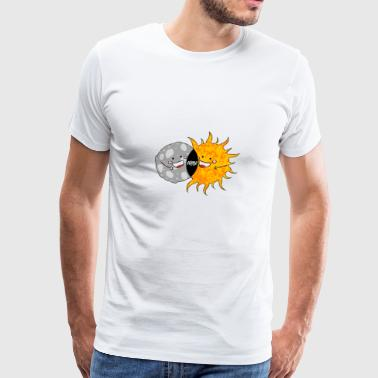Total Solar Eclipse T-shirt. Funny Sun and Moon - Men's Premium T-Shirt