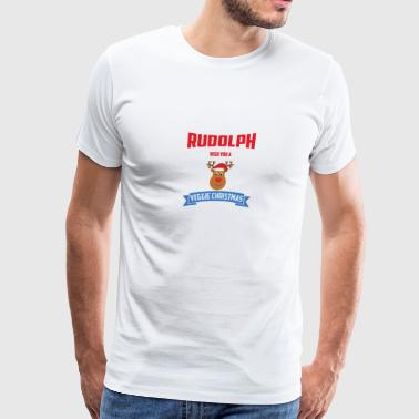 RUDOLPH WISH YOU A VEGGIE CHRISTMAS - Men's Premium T-Shirt