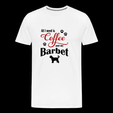 Barbet and my need of Coffee - Men's Premium T-Shirt