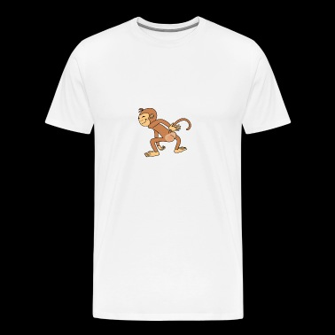 Funny Cute Spank The Monkey - Men's Premium T-Shirt