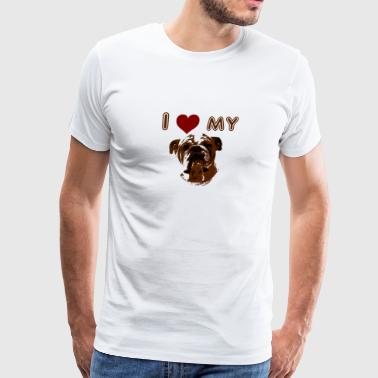 I Love My Bulldog - Men's Premium T-Shirt