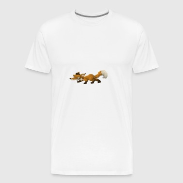 Fox cartoon drawing illustration - Men's Premium T-Shirt