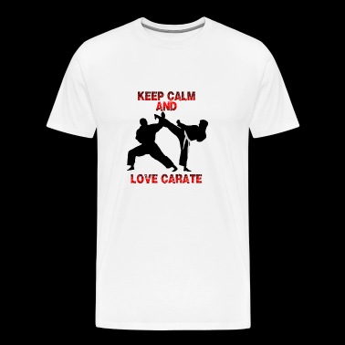 keep calm and love carate - Men's Premium T-Shirt