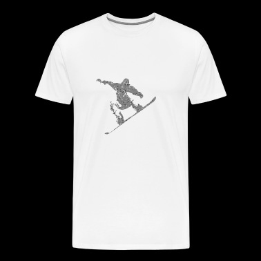 Snowboarder Snow Board Gift - Men's Premium T-Shirt