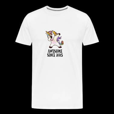 Awesome Since 2015 Dabbing Unicorn 3. Gift - Men's Premium T-Shirt