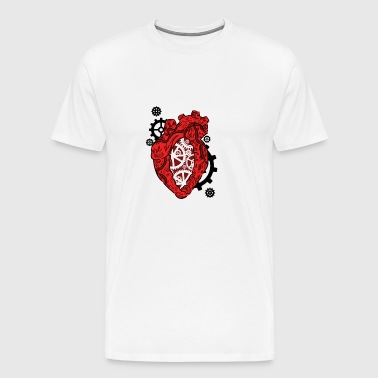 Anatomical Heart. Mechanism. Cardiology Heart - Men's Premium T-Shirt