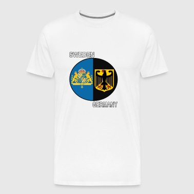 sweden germany crest text - Men's Premium T-Shirt