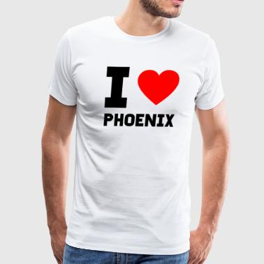 I love Phoenix gift present city special offer - Men's Premium T-Shirt
