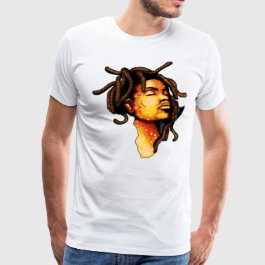Afro Dread Africa Love - Men's Premium T-Shirt