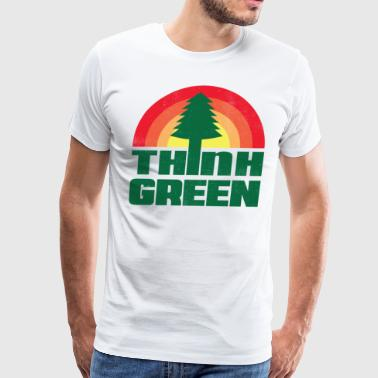 Think Green Earth Day - Men's Premium T-Shirt