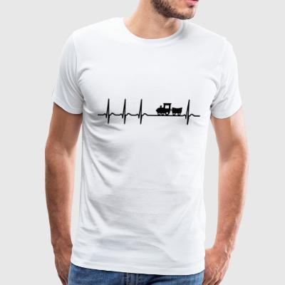 Heartbeat Railway modelling model railroading Gift - Men's Premium T-Shirt