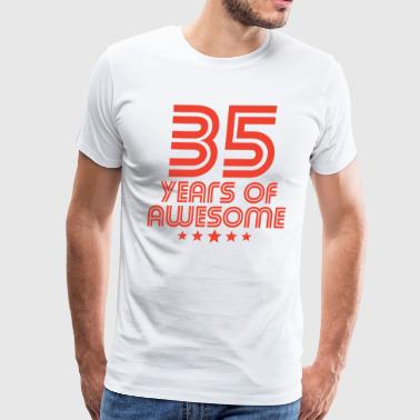35 Years Of Awesome 35th Birthday - Men's Premium T-Shirt